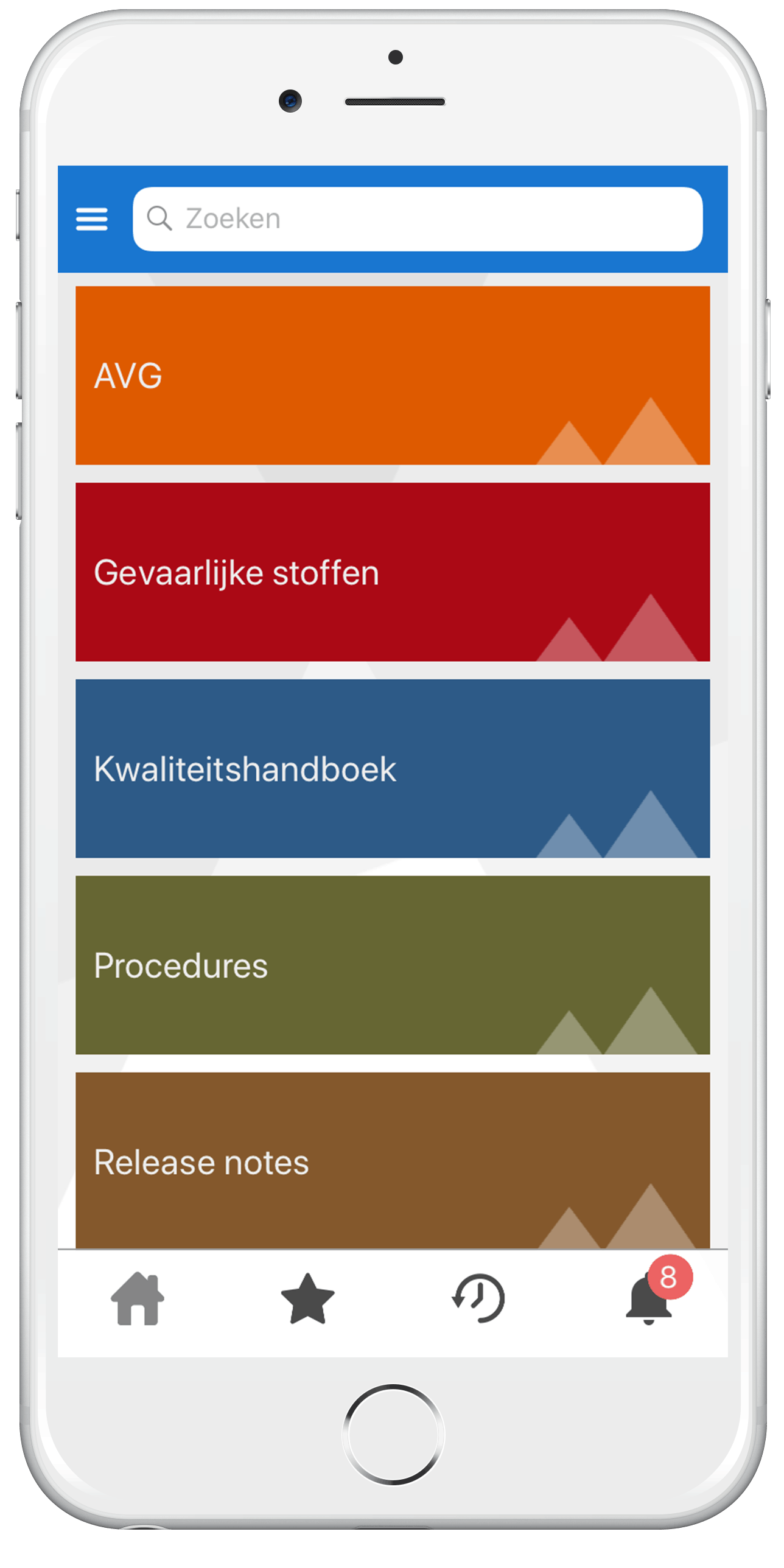 iProva Search app - Documentenstructuur